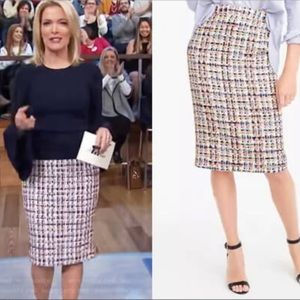 J Crew Collection French Tweed Pencil Skirt